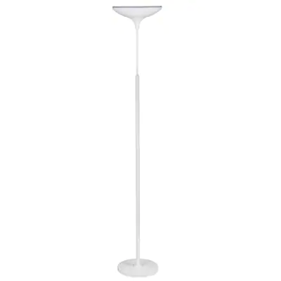 Globe Electric 70 9 In White Torchiere Floor Lamp At Lowes