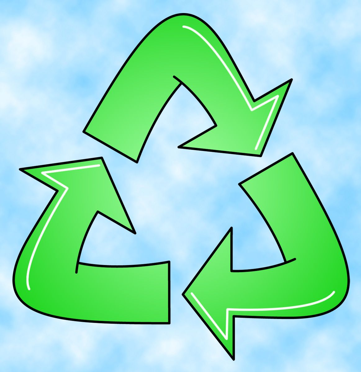This is a very simple recycle symbol i just dont know exactly recycle symbol biocorpaavc