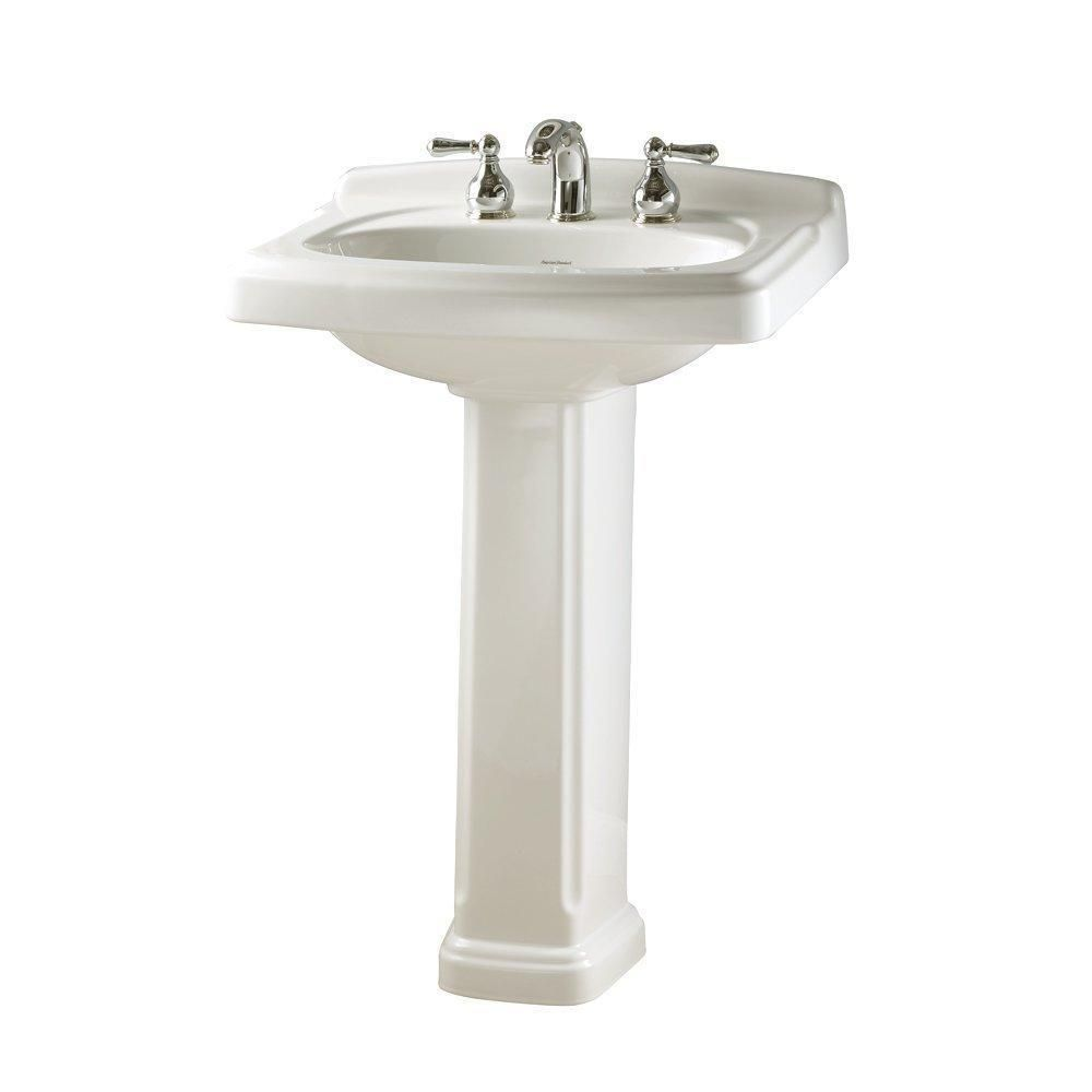 American Standard 0555.801.020 Townsend Pedestal Bathroom Sink with ...