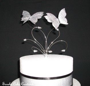 Erfly Wedding Cake Toppers Silver Topper Decoration Ebay