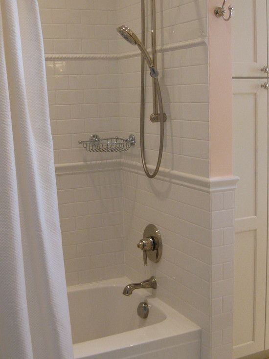Decorative Shower Tile White Subway Tile With Decorative Trim Tiles New Bathroom