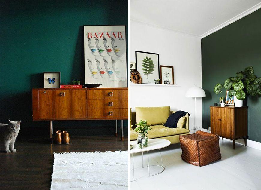 Tendance Couleur Le Vert Fonce Avec Images Deco Chambre Vert
