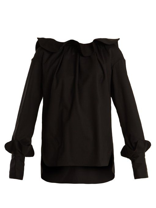 Red Pre Order Eastbay Shop Ruffle-trimmed wool blouse Teija Outlet Pay With Paypal MdXKgtN
