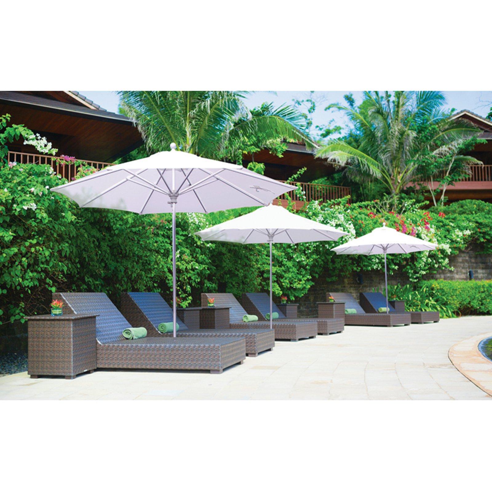 Galtech 9 Ft Commercial Deluxe Sunbrella Aluminum Market Umbrella Patio Umbrellas Market Umbrella Offset Patio Umbrella