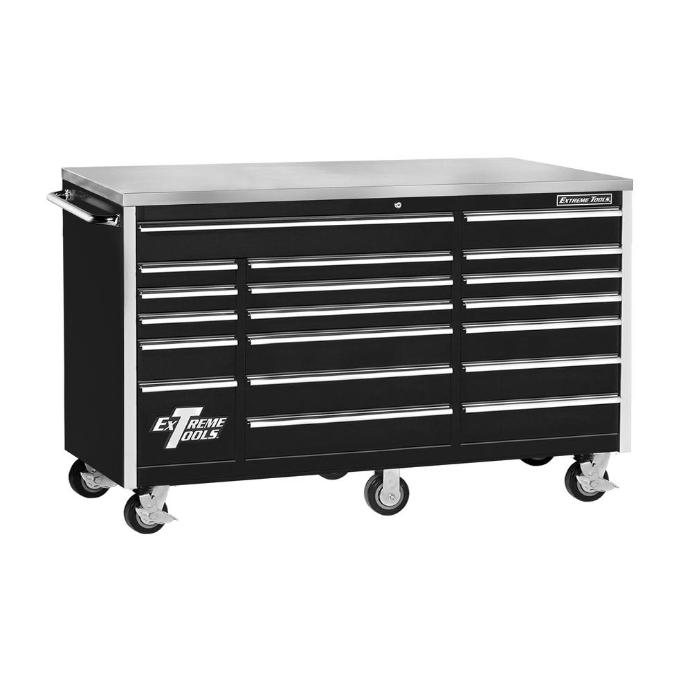 Extreme Tools 72 In 18 Drawer Triple Bank Standard Roller Cabinet
