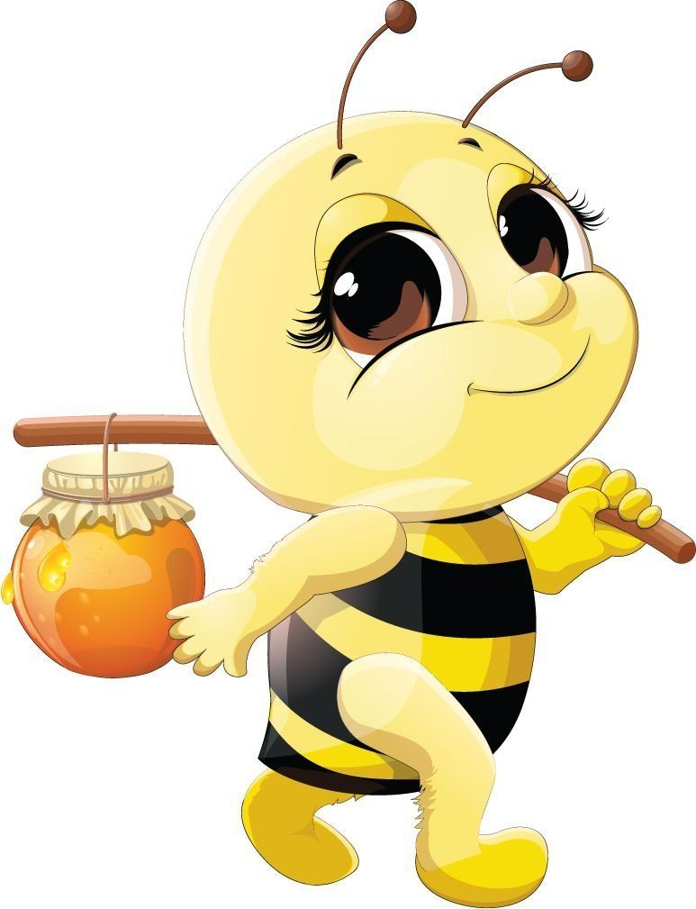 Funny Bee Honey Home Decal Vinyl Sticker 11 X 14 Learn More By Visiting The Image Link This Is An Affiliate Link And I Re Cartoon Bee Cute Bee Bee Art