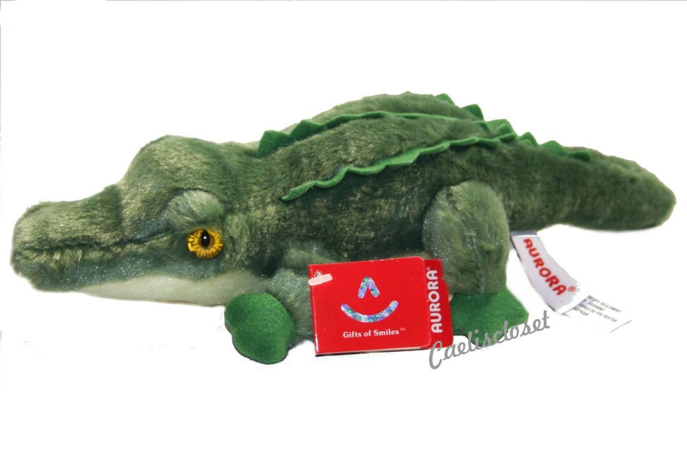 "Aurora Swampy ALLIGATOR 8"" Flopsie Plush Crocodile Stuffed Animal NEW #AuroraWorldInc"