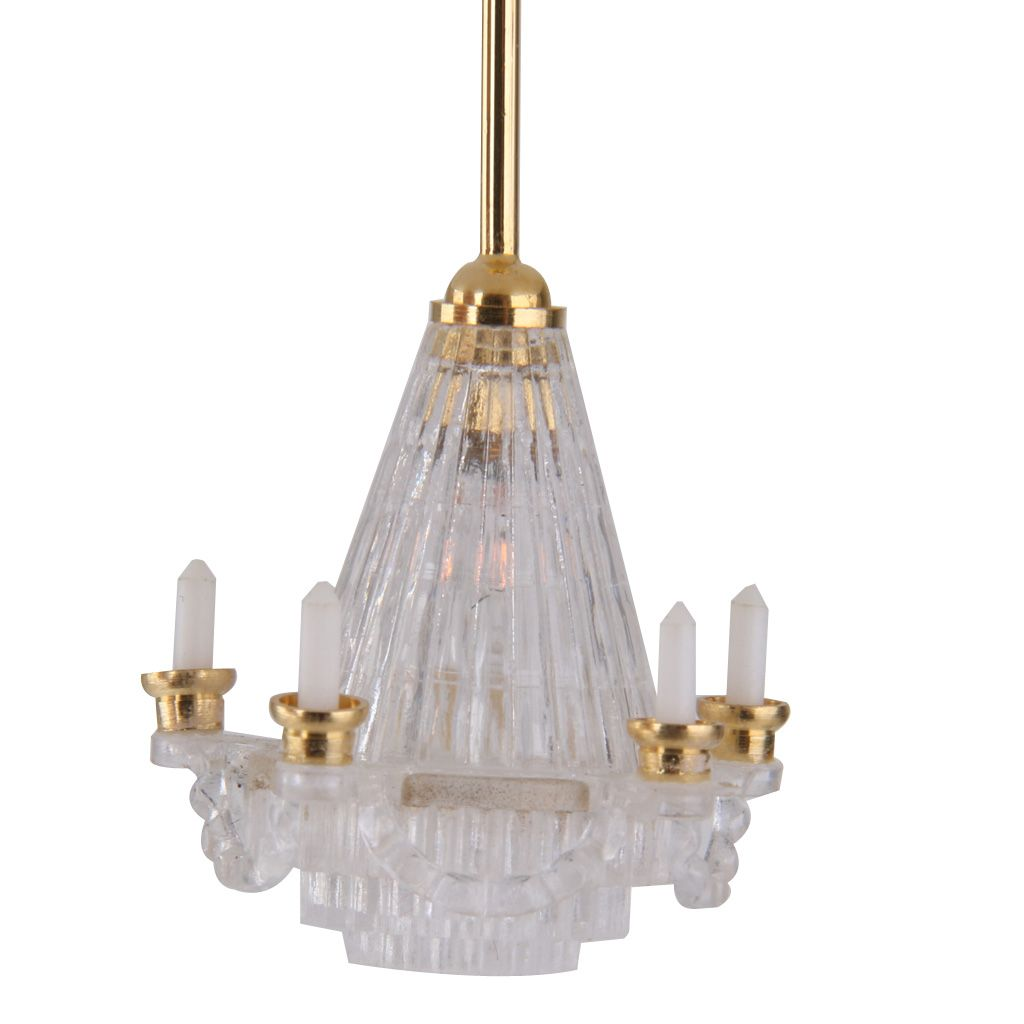 lighting for dollhouses. 5,37 - Dollhouse Miniature 12V LED Chandelier Ceiling Lighting Lamp Electric W/5 For Dollhouses