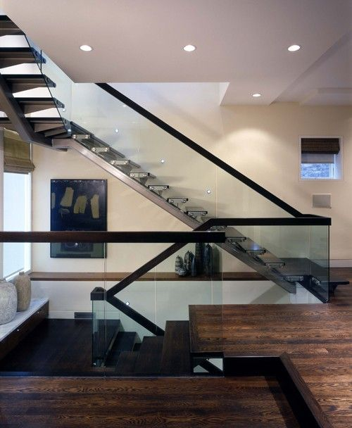 stairs house design ideas Pinterest Barandilla de vidrio