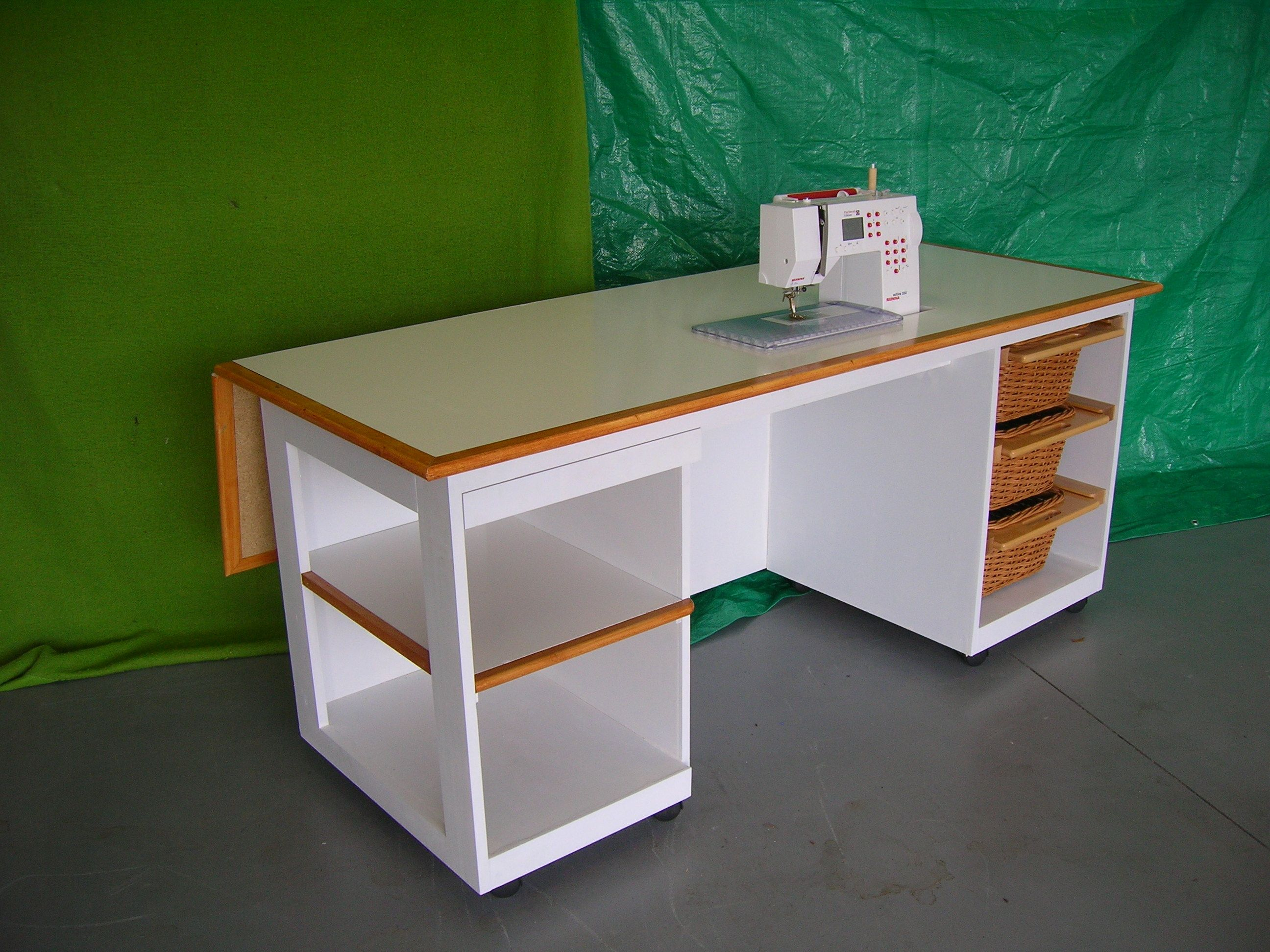 Sewing table drop down leaf on wheels perfect crafts pinterest sewing table drop down leaf this website leads nowhere but awesome table like the ability to have so much extra room at the back of the machine watchthetrailerfo