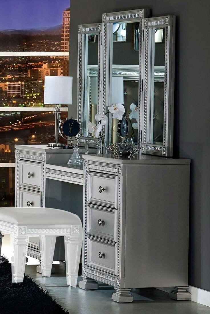 bevelle vanity dresser with mirror  mirrored bedroom