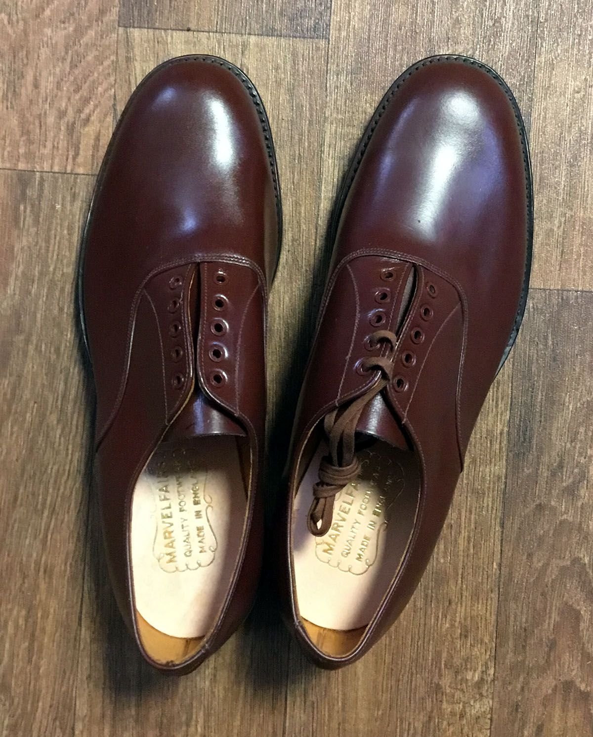 Mens Original Deadstock 1940s Brown Leather Shoes From My Vintage Vintage Shoes Mens Shoes Mens Vint Leather Shoes Men Leather Oxford Shoes Leather Oxfords