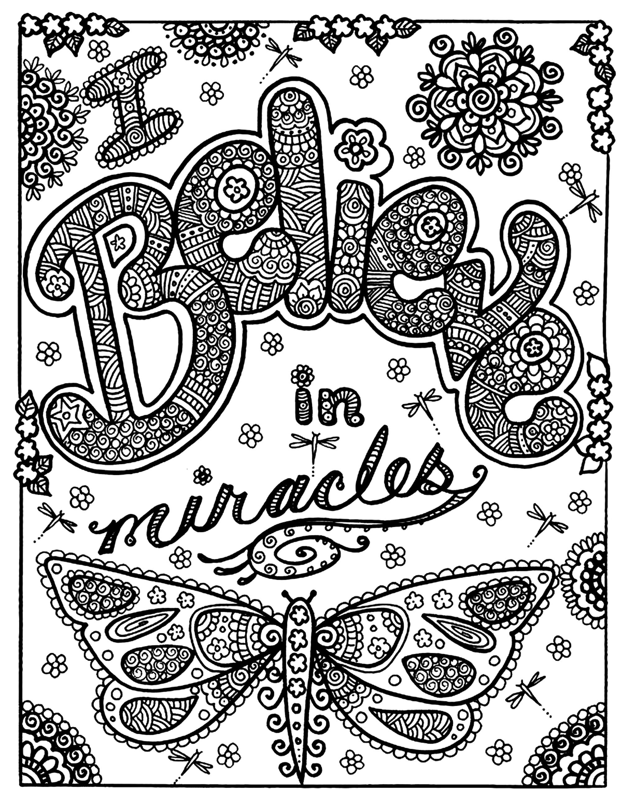 To print this free coloring page coloring adult butterfly miracle click on the printer icon at the right