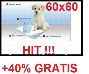 Podklady Maty Pieluchy Dla Psa 60x60cm 40 Gratis 5606970203 Oficjalne Archiwum Allegro Gratis Psa 40th