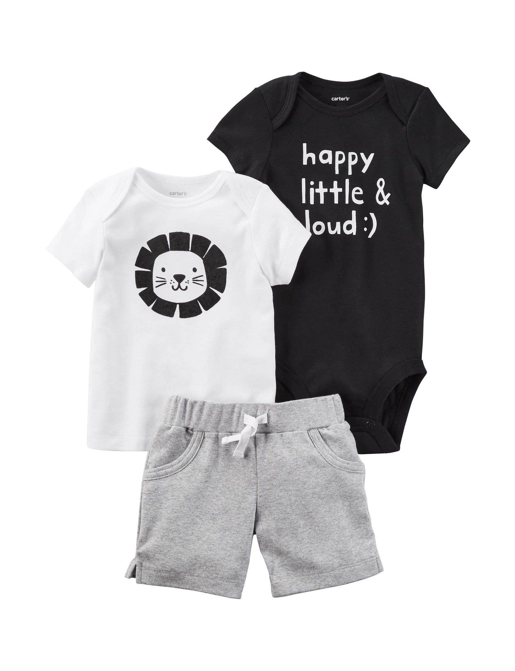 Carter S 3 Pc Lion Shirt Shorts Set Baby 0 12 Mos Stage