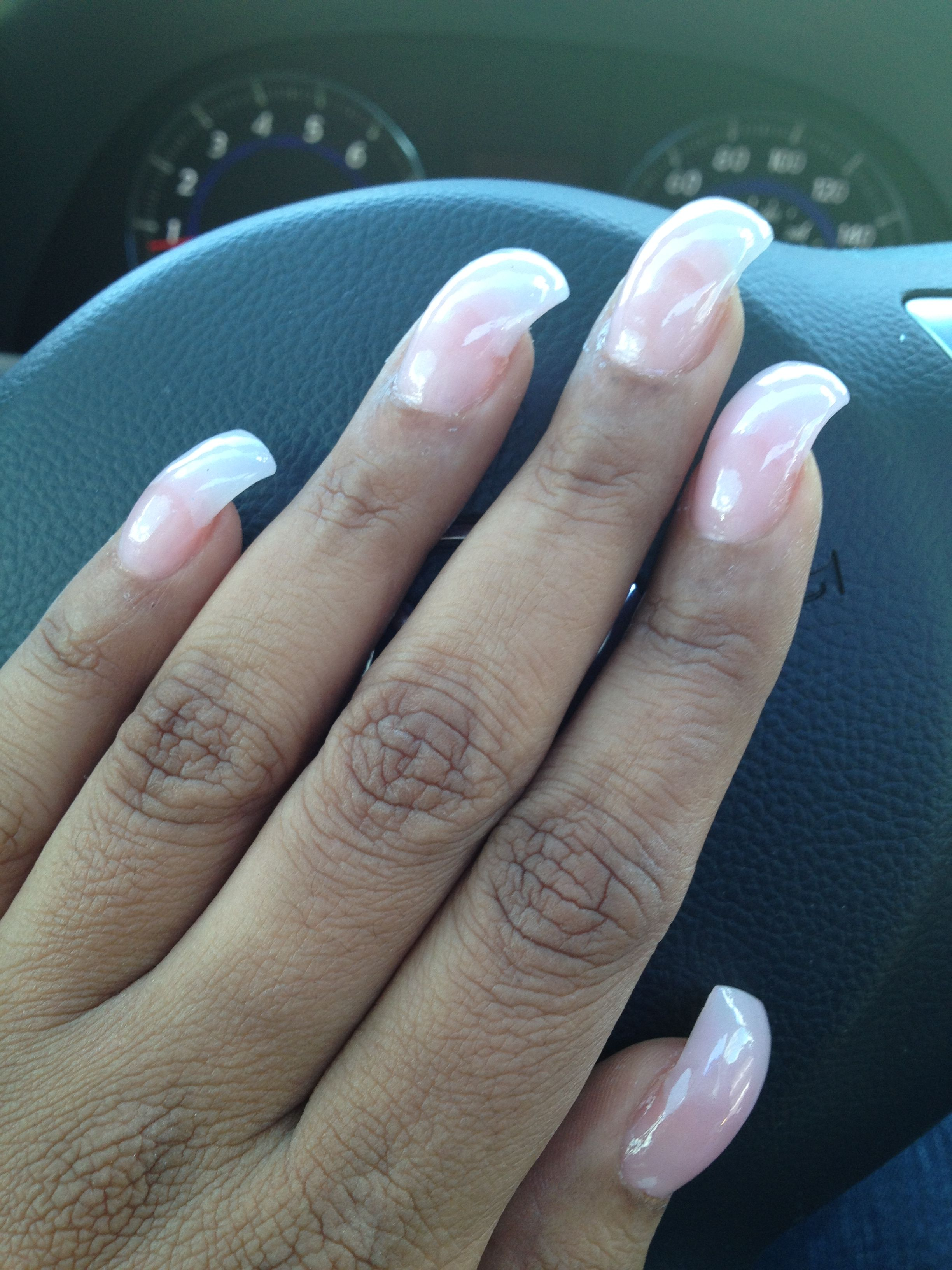 My New Curved Nail Set From Last Year I Loved Them Curlnails Longnails Curved Nails French Acrylic Nails Fancy Nails