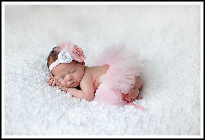 Light pink dream cloud vintage inspired newborn tutu headband set