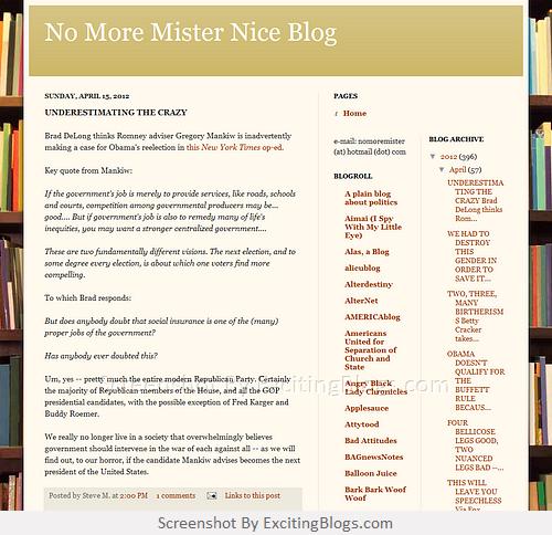No more mister nice blog