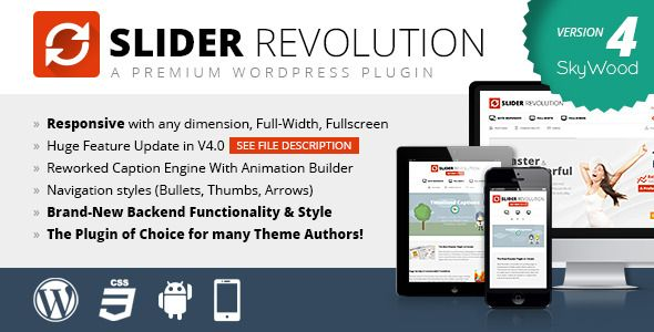 Slider Revolution v4 3 1 Responsive WordPress Plugin free