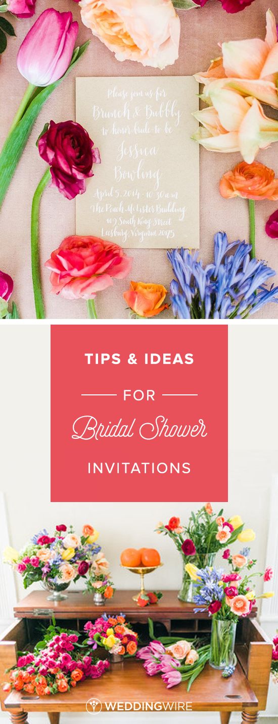Bridal Shower Invitation Wording Tips and Ideas | Bridal showers ...
