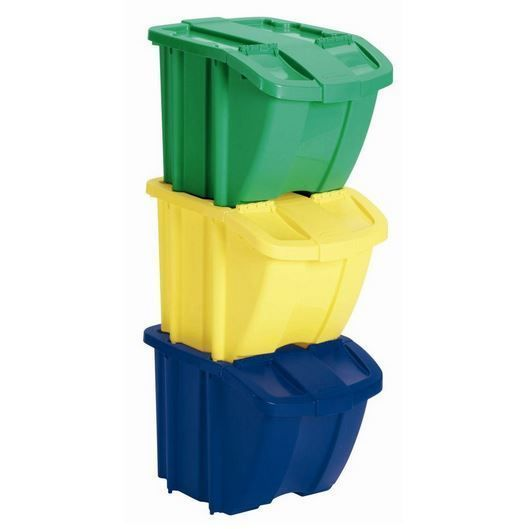 3 Pc Recycle Bins Storage 18 Gallon Containers Dry Pet Bird Food Plastic Glass  #SC