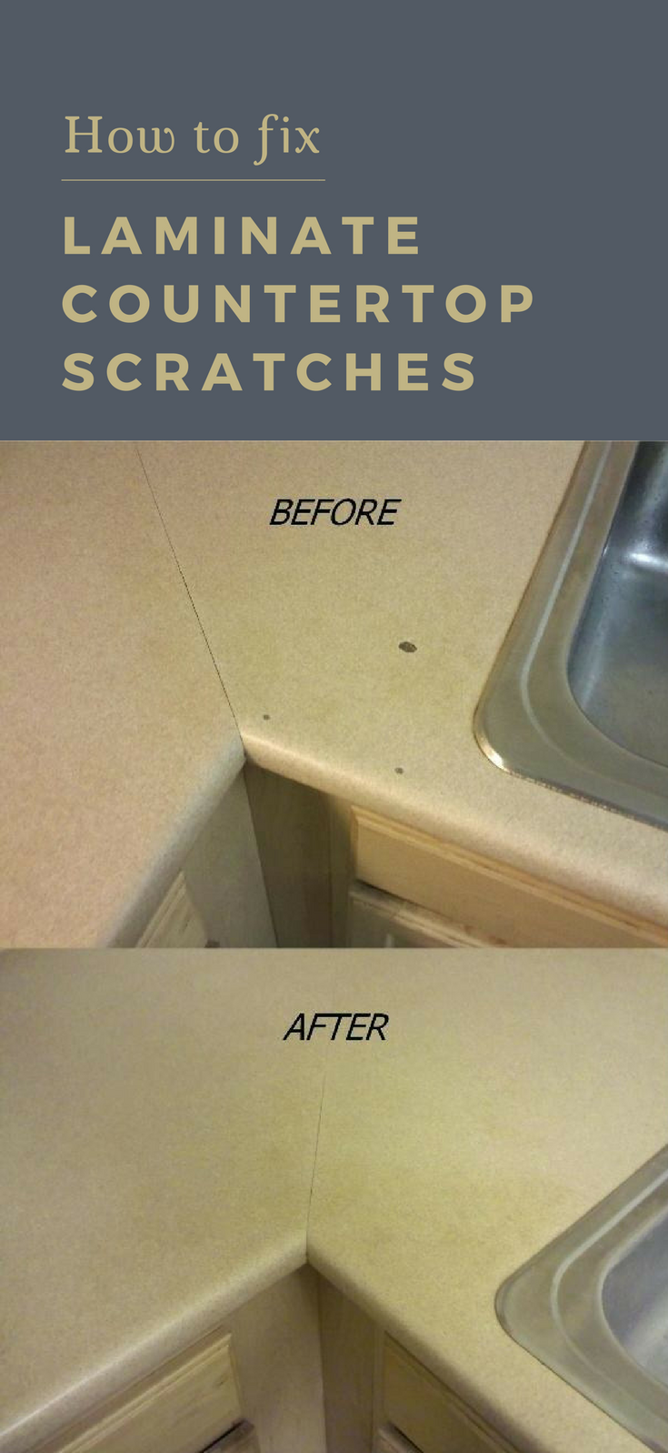 How To Fix Laminate Countertop Scratches Cleaningdiy Net With