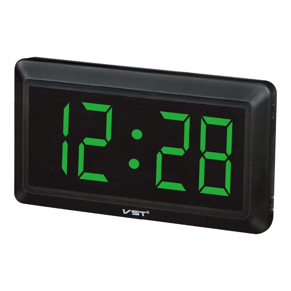 Large Digital Wall Clock Modern Design Big Number Led ...