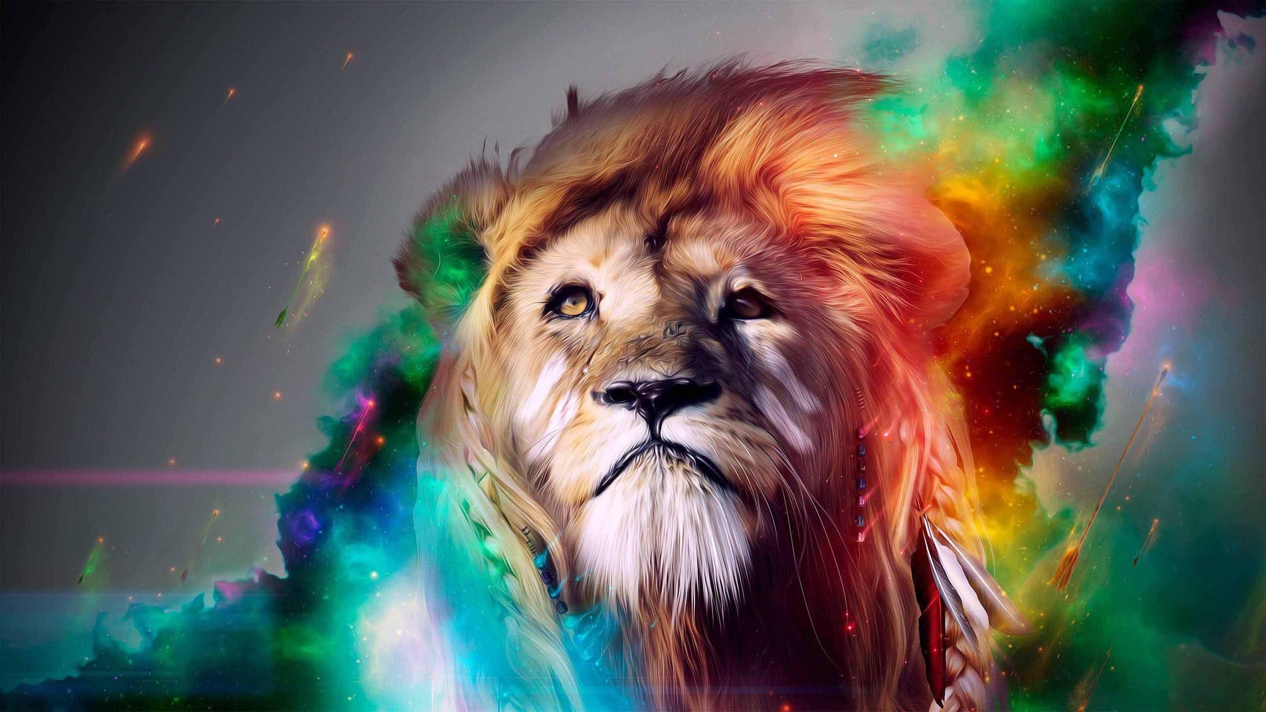 Trippy Lion Wallpaper Hd Ololoshenka Lion Art Wallpaper Lion