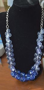 """NWT 22"""" Fashion Statement Bib Ombre Crystal Bead Necklace"""