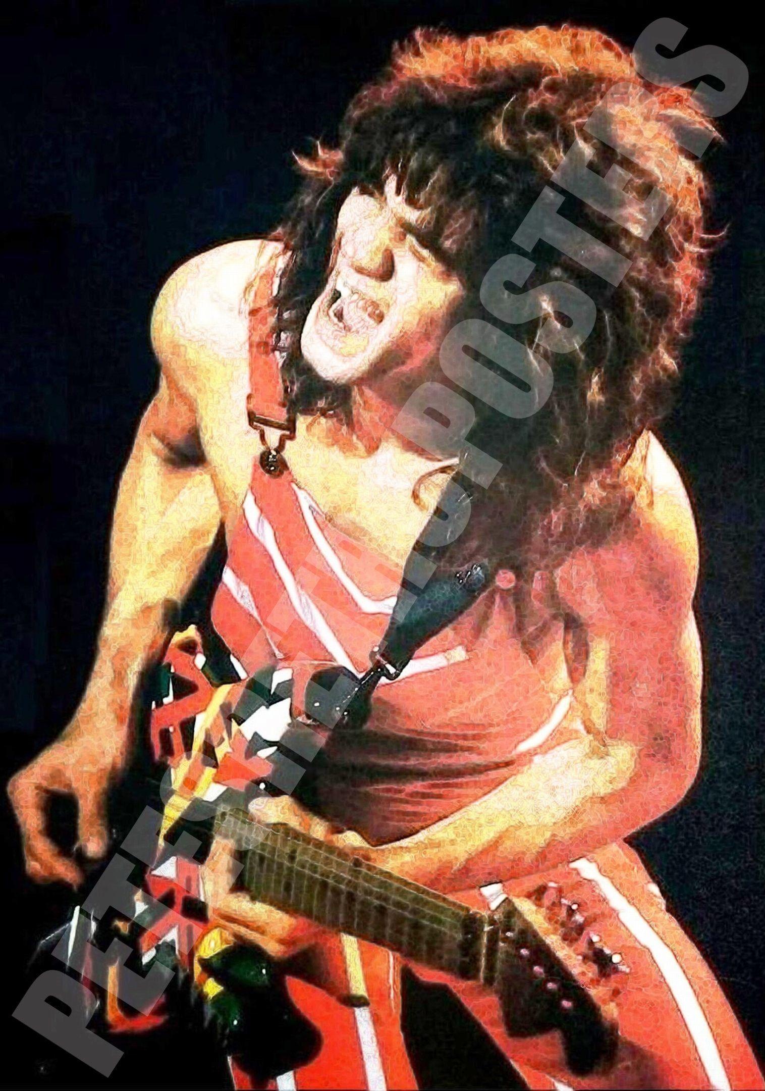 Eddie Van Halen Art Print New Etsy In 2020 Van Halen Eddie Van Halen Vintage Concert Posters