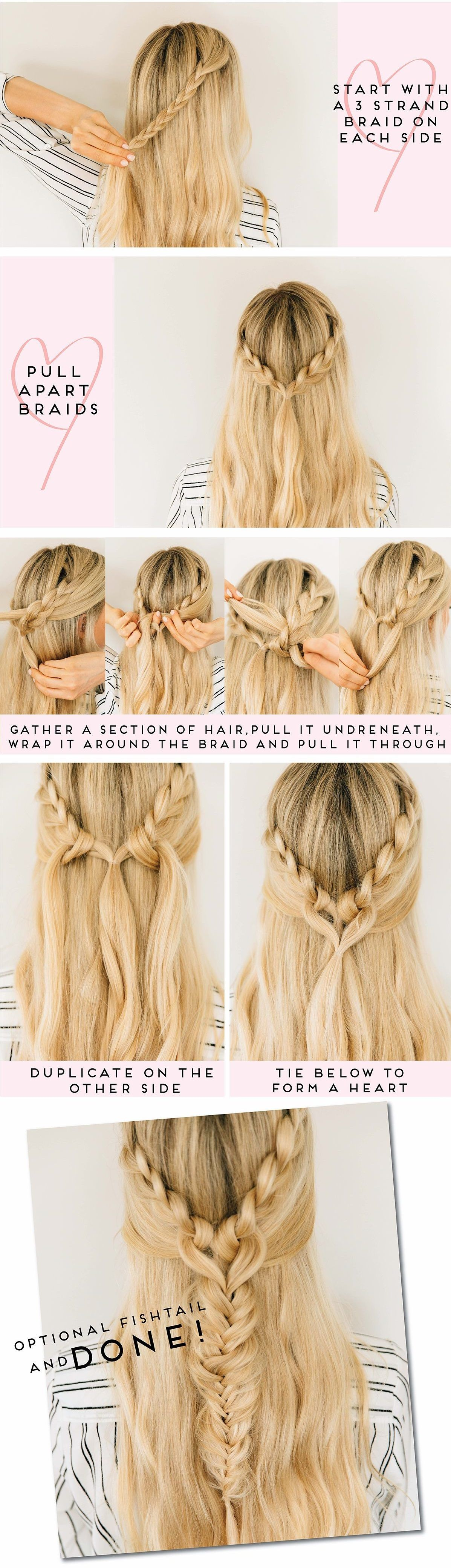 17 Adorable Heart Hairstyles Cute Hairstyles For Kids You Will Love With Hairstyle Braided Hairstyles Easy Medium Length Hair Styles Medium Hair Styles