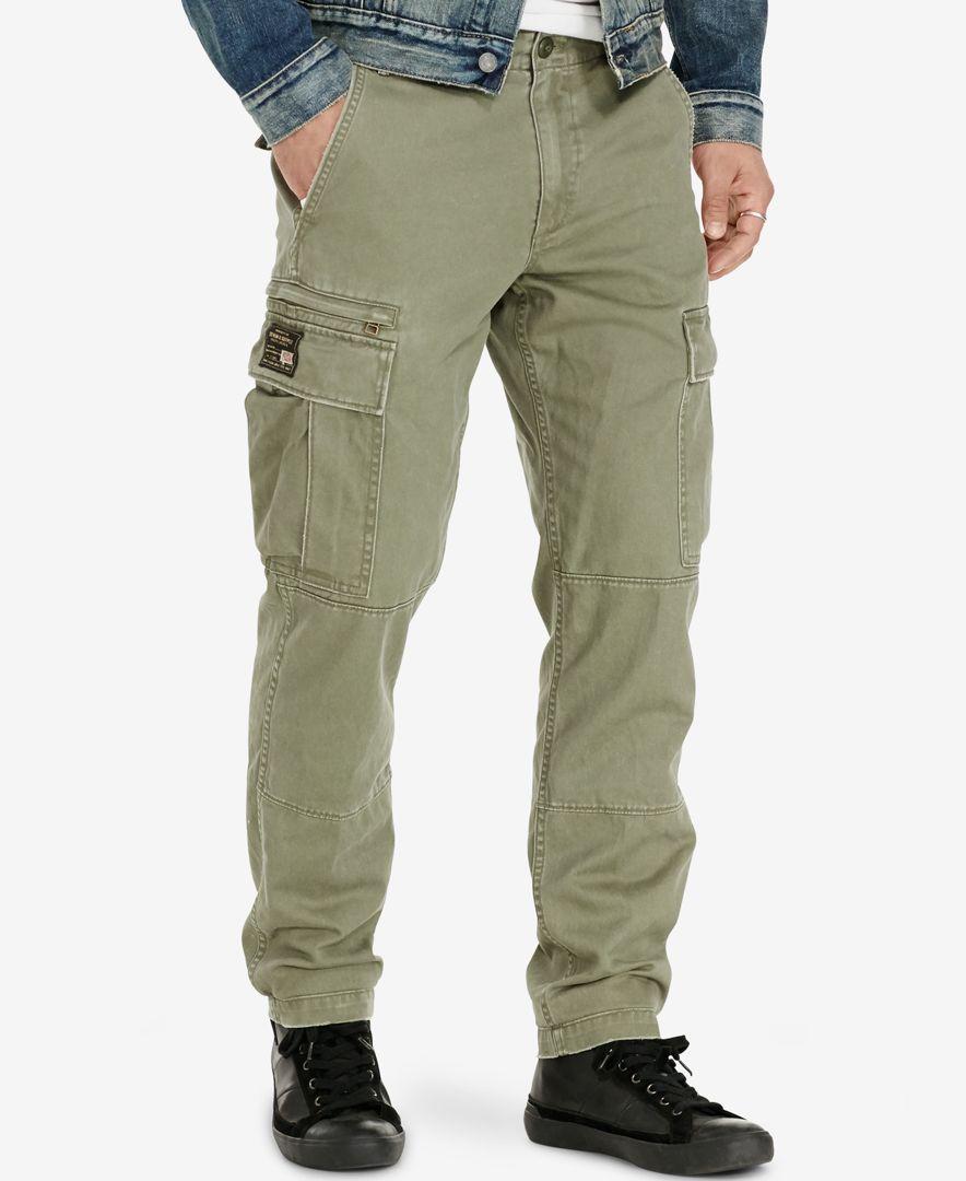 Denim   Supply Ralph Lauren Men s Slim-Fit Cargo Chino Pants  0109923ada29