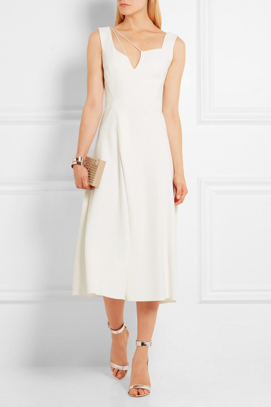 Victoria Beckham | Flared crepe dress | NET-A-PORTER.COM