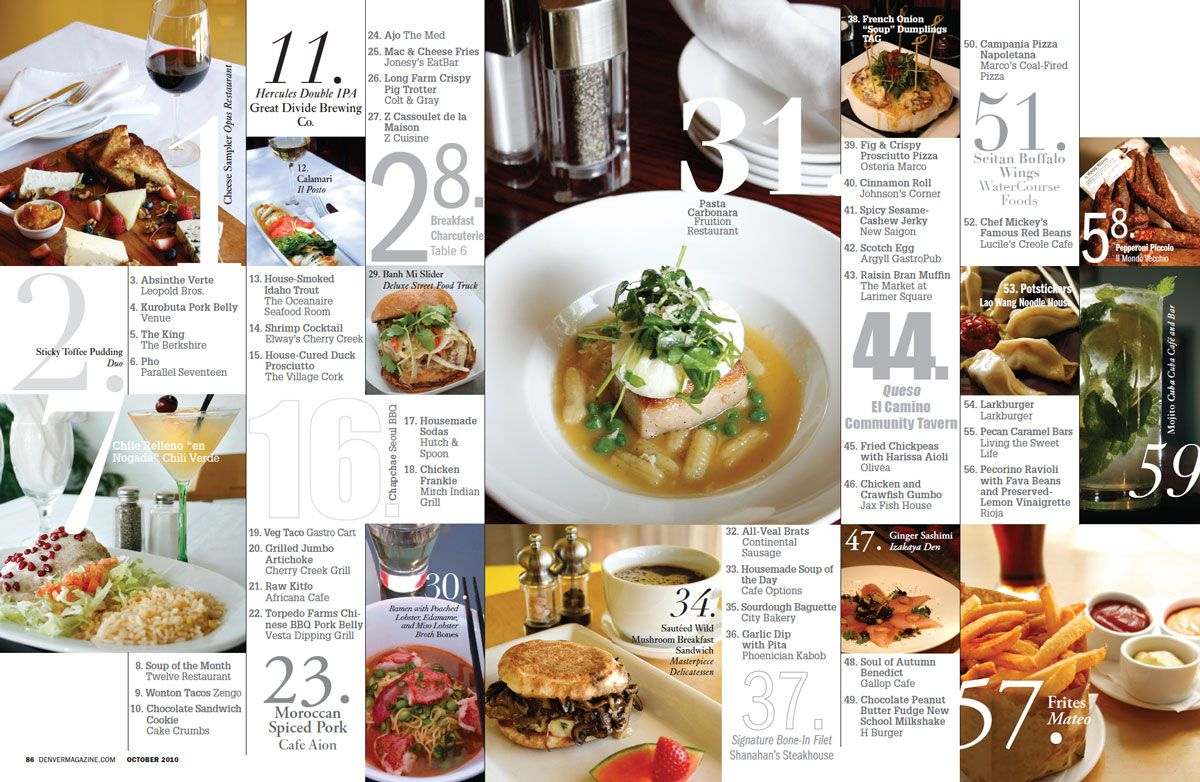 More than just a set of photos food magazine layout
