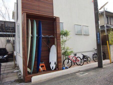 love the slats surfboard storage pinterest maison. Black Bedroom Furniture Sets. Home Design Ideas