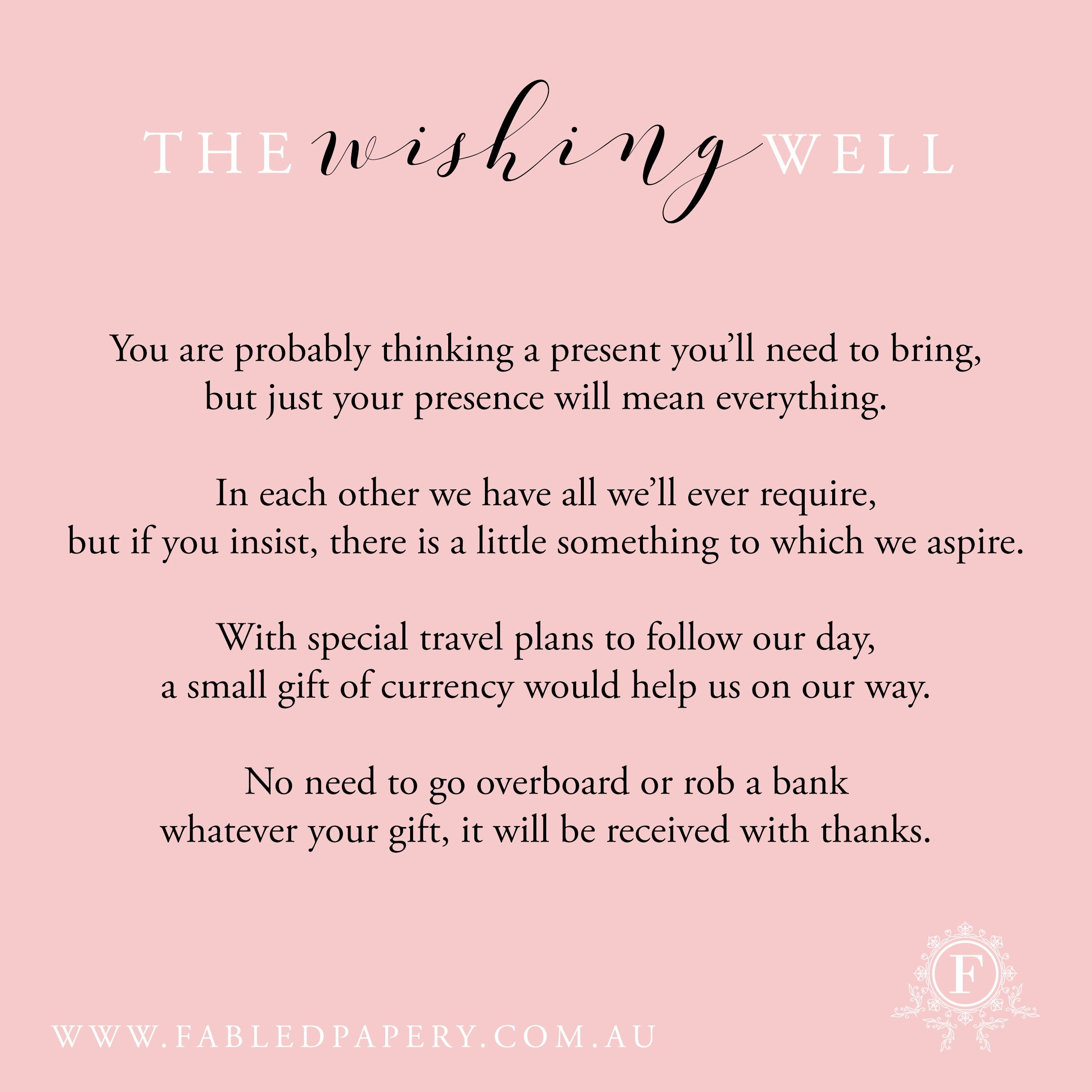 wishing well poems more