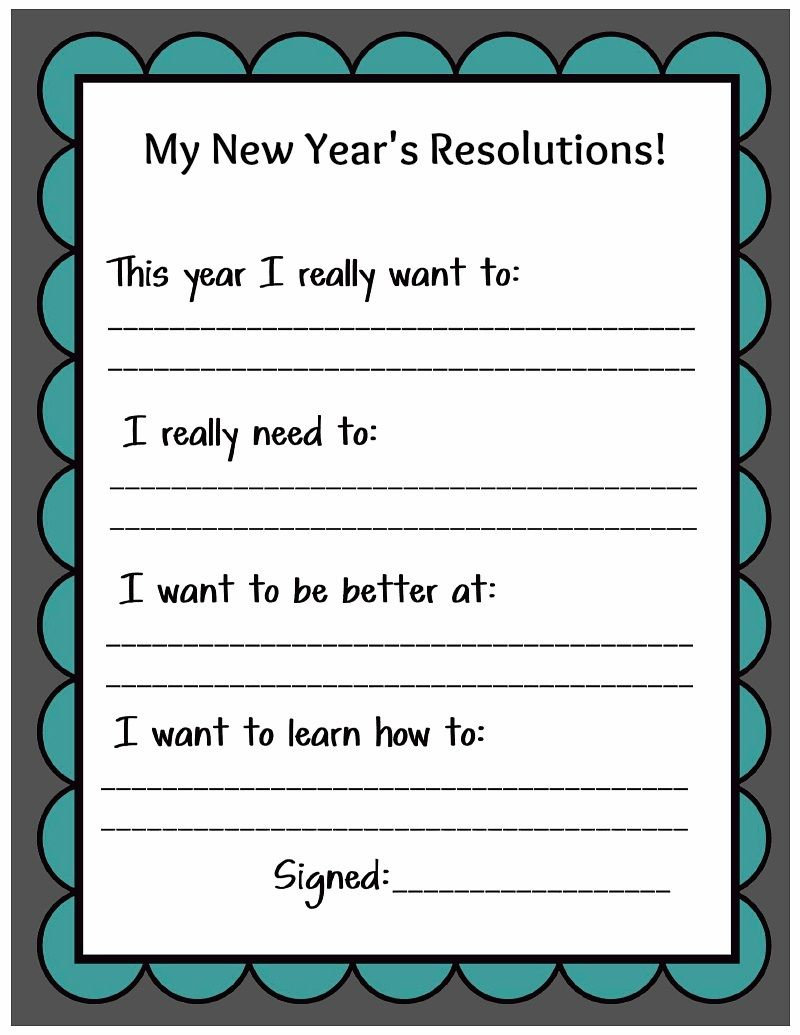 Kid Friendly New Year 8217 S Resolution Printable Family New Years Eve New Years Resolution Kids New Years Activities