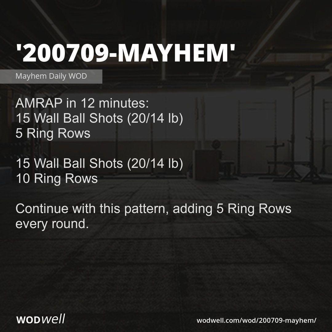 200709 Mayhem Workout Functional Fitness Wod Wodwell Wod Wod Workout Wall Balls