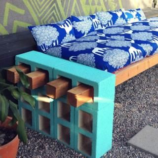 painted cinder blocks!