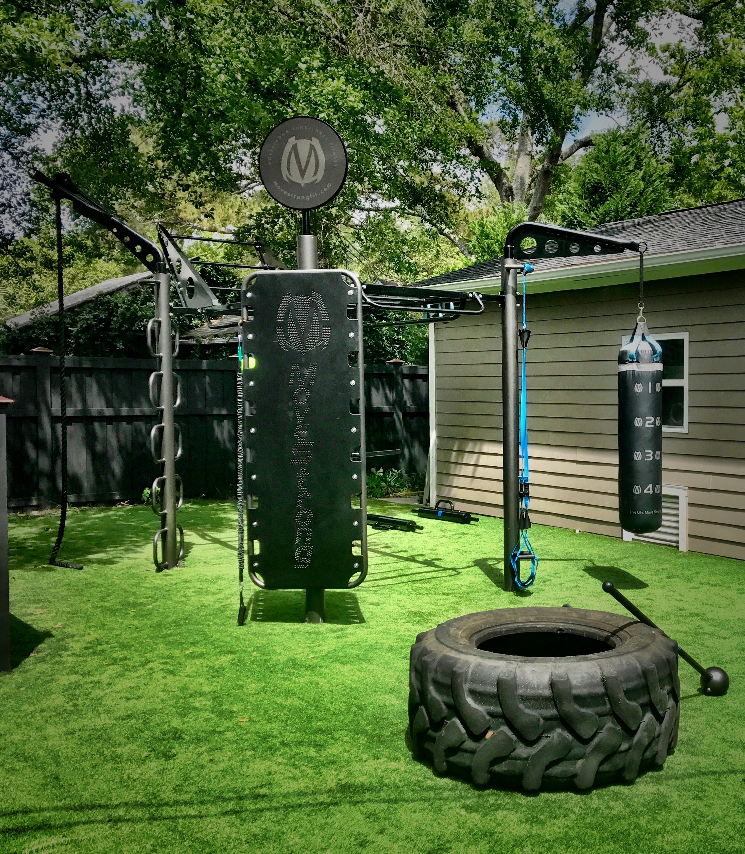 Outdoor functional fitness backyard set up with MoveSTrong 30-Post