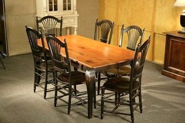 Dark Pine Table Pine Dining Table With Brown Cherry Finish With