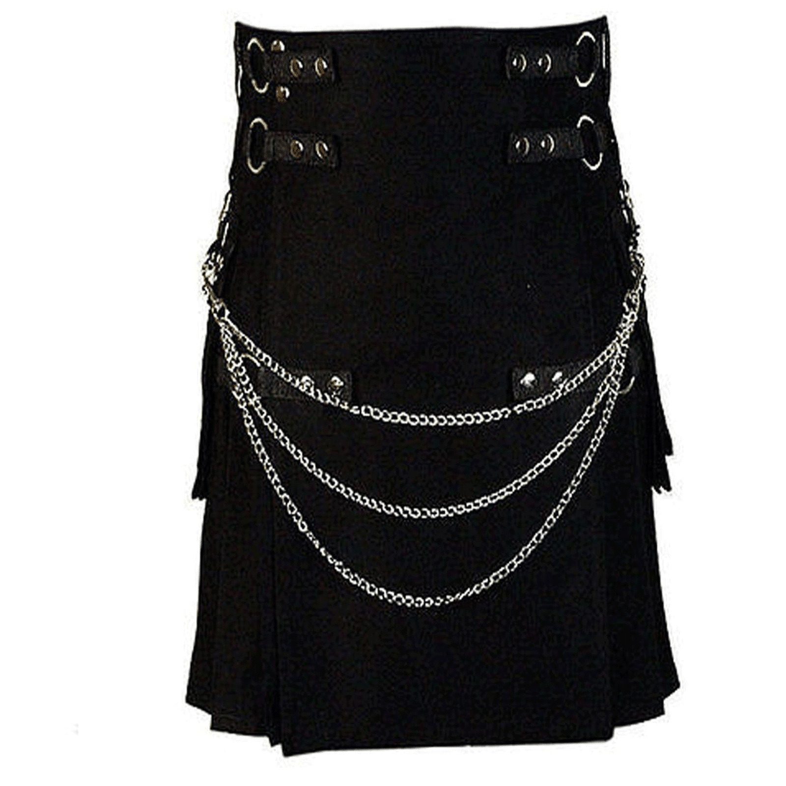 Gothic Style Fashion UTILITY KILT Custom Size Available Color Brown Blue Red Green White FaAglypHTi