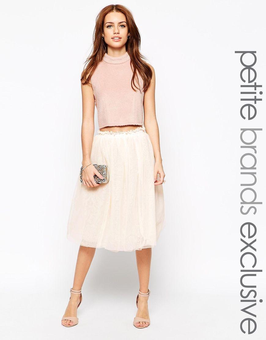 f97a5da94a67 John Zack Petite Midi Tulle Skirt | flower girl dress | White tulle ...