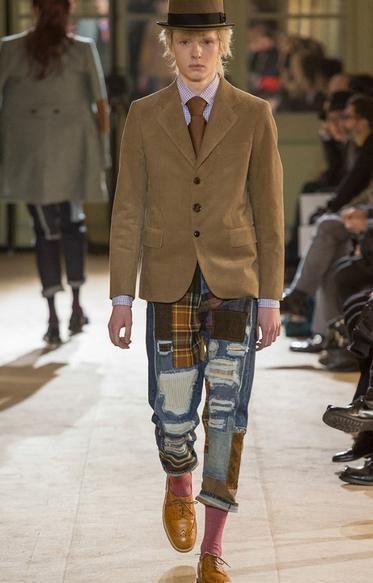 Jeans Homme JUNYA WATANABE Comme des Garçons, défilé Hiver 2014, Neuf