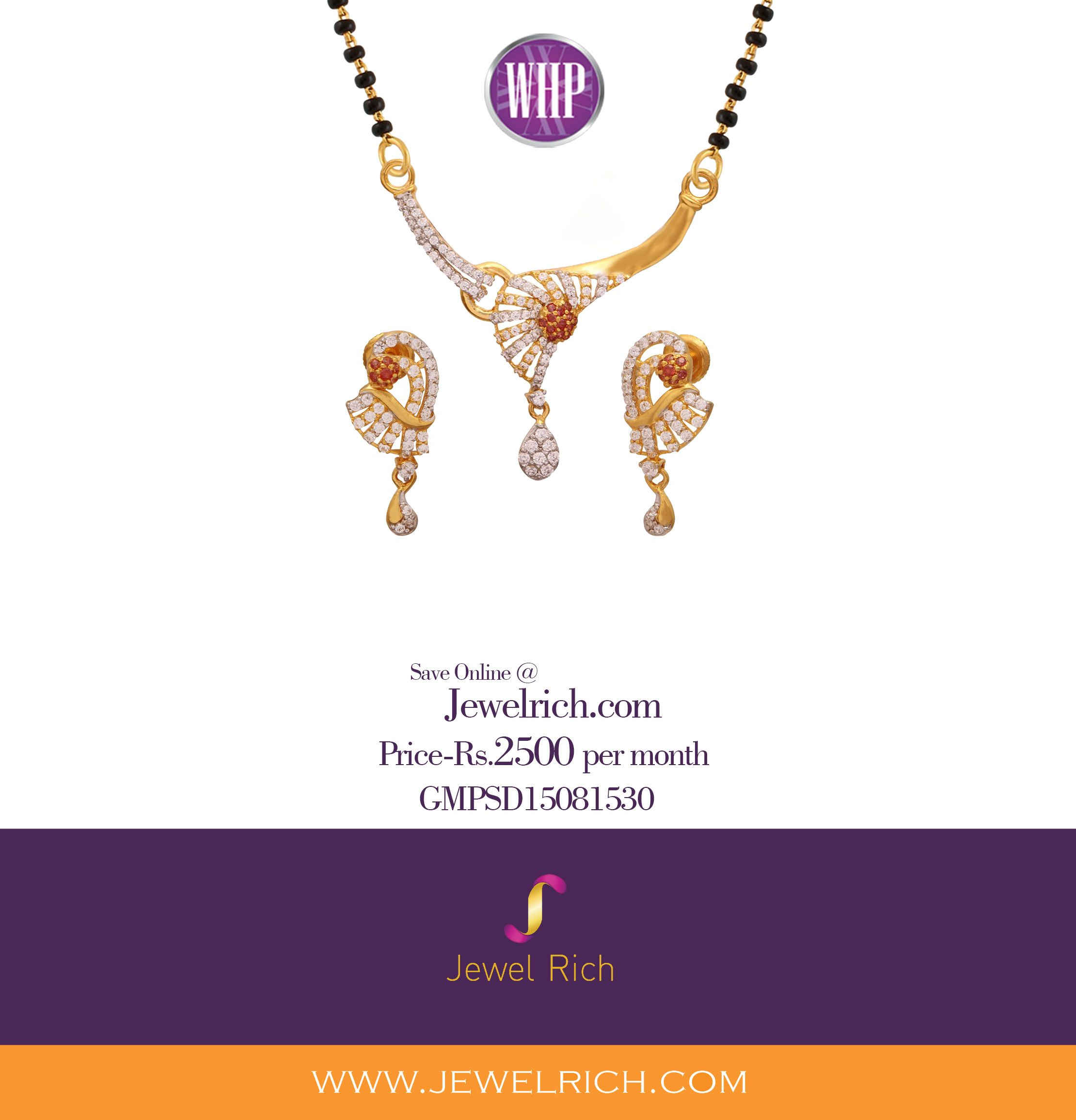 Start owning this mangalsutra pendant set for rs per month for