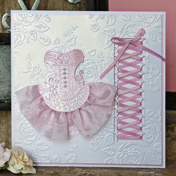 pink bodice Buy Tattered Lace Embossing Folders Multibuy from CreateAndCraft.tv