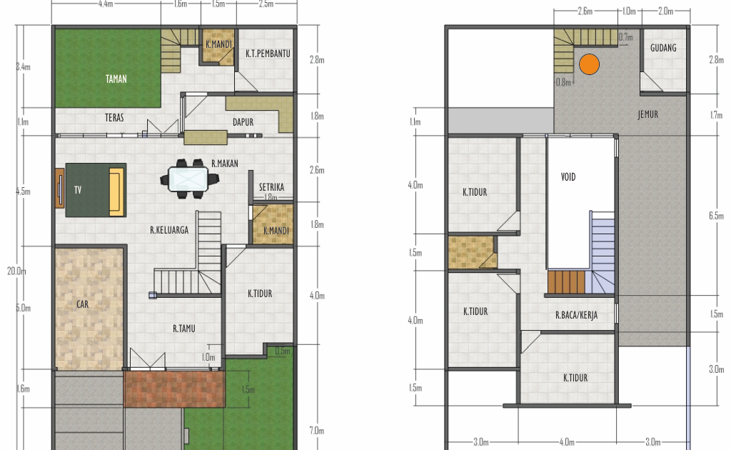 Denah Rumah Ukuran Lebar 10 Panjang 20 Terupdate Denahom Contoh Rumah Minimalis Ukuran 8 10 Sederhana Denah Rumah 25 Inspirasi Di 2020 Rumah Minimalis Desain Rumah