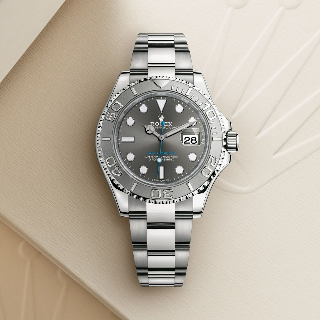 The Rolex Yacht,Master 40 in Rolesium , combination of