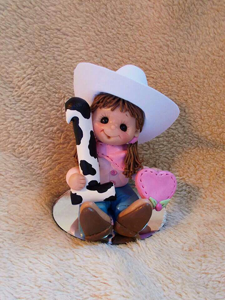 Wondrous Cowgirl Cake Topper With Images Cowgirl Birthday Birthday Personalised Birthday Cards Sponlily Jamesorg