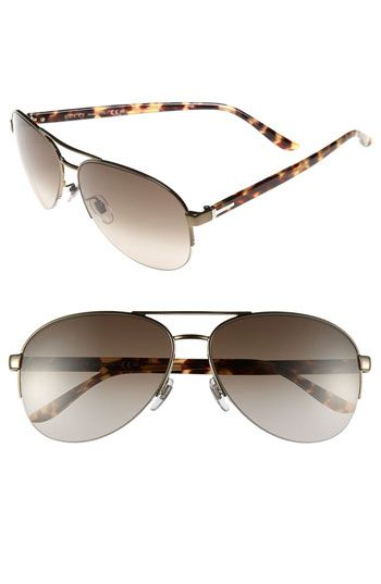 c7cddc4d62d Gucci 62mm Aviator Sunglasses available at Nordstrom  310.00 - Shiny Brown
